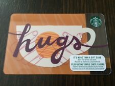 "Canada Series Starbucks ""HUGS 2018"" Gift Card New No Value"