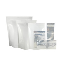 Barrier Bags Mylar Heat Seal Tear Notch Food Storage Packaging Pouch Clear White