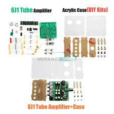AC12V 2 canali 6J1 valvola di pre-amp Amplificatore per Cuffia Del Tubo Bordo fai da te acrilico CUSTODIA KIT