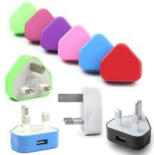3Pin UK Power Travel Plug Adapter Charger Wall Socket USB Port for IPhone LG HTC