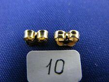 14K Gold  Friction Butterfly Push Back Earrings Backs  (1 Pair)  item #10