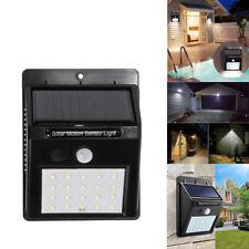Waterproof 20Led Solar Motion Sensor Night Light Outside Wall Garden Lighting