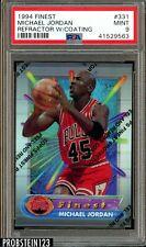 1994 Finest Refractor w/ Coating #331 Michael Jordan Bulls HOF PSA 9 MINT