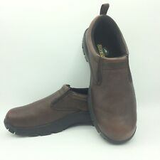 RedHead Mens brown leather slip on loafers shoes dress casual Sz 9
