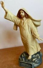 """Crystal Cathedral """"Peace be Still"""" Statue By Dallas Anderson Vintage Porcelain"""