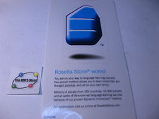 Rosetta Stone Software Original Decal Not pealed or used 3-1/4 x 1-3/4 Qty 1