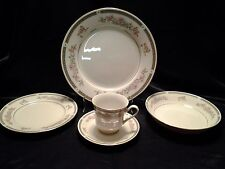 """China Pearl """"Donna"""" Pattern Pink Floral (4) 5 Piece Place Setting"""