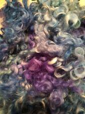 Hand Dyed Leicester Long Wool Roving Spinning Fiber Felting Fiber
