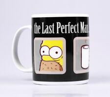 "THE SIMPSONS Kaffeebecher HOMER ""The Last Perfect Man"", Steingut, 320ml, OVP"