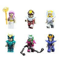 LOT DE 6 MINI FIGURINES BUILDING BLOCK SAINT SEIYA