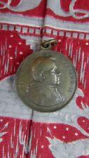 ancienne grosse medaille religieuse bronze PI X vierge marie XIXe
