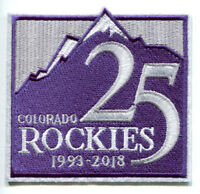 COLORADO ROCKIES 25TH 1993-2018 JERSEY PATCH IRON ON