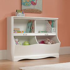 Toy Storage Organizer Playroom Book Shelf Furniture Kids Box Chest Bin White