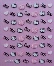 Hello Kitty 3D Glitter Nail Art 54 Pcs Sticker Decal USA Seller Free Shipping