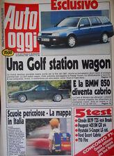 Auto Oggi 198 1990 La BMW 850 diventa cabrio. Test Hyundai S-Coupé LS [Q106]