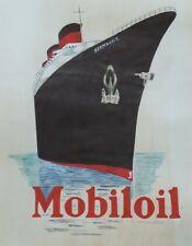 """""""MOBILOIL"""" Peinture gouache sur papier d'après L'ILLUSTRATION 50x64cm"""
