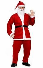 Men's Adult Santa Suit Father Christmas Deluxe Fancy Dress Costume Xmas Outfit