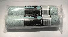 2 x HAMILTON PERFECTION 12 INCH MEDIUM PILE ROLLER SLEEVES MICROFIBRE BLEND