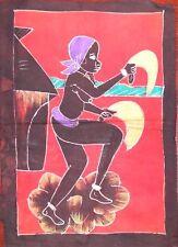 Batik Afrique de Cote d'Ivoire danseuse griote
