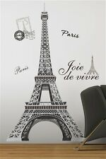 EIFFEL TOWER Paris wall stickers MURAL decals 55 inches tall room decor
