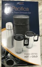 NEW Pacifica 4pc Travel Drinkware Set By Life Style Products