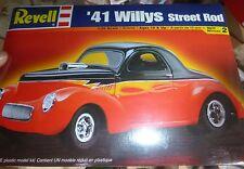 REVELL 1941 WILLYS PRO STREET ROD 1/25 FS MODEL CAR MOUNTAIN