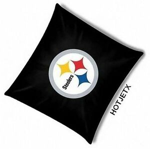 PITTSBURGH STEELERS PILLOW OFFICIAL TOSS NFL FOOTBALL BED SOFA SUPERBOWL HD TV