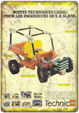 "Lego Technic Vintage Toy Car Ad 10""X7"" Reproduction Metal Sign ZD24"