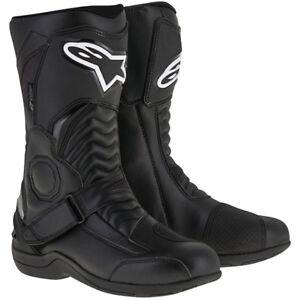 Alpinestars Pikes Waterproof Motorcycle Motorbike Leather Drystar Boots - Black
