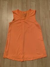 Oiselle Workout Orange Color Training Tank Top Size 2 Material Polyester+Spandex