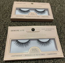 Demure Lite 100% synthetic falsies: Reusable Up To 15 Times: Set Of 2 Eyelashes