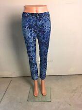 NEW J Brand Designer Skinny Printed Floral Jeans $185 Size 25 Low-Rise J-0287