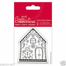 Docrafts Papermania Create Christmas Ginger Bread House man clear rubber stamp