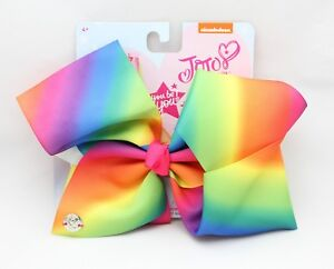 GENUINE JOJO SIWA LARGE HAIR BOW - SIGNATURE RAINBOW BOW