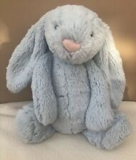 Jellycat Medium Bashful Blue Bunny Rabbit Soft Toy Comforter Baby Soother