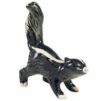 Goebel Striped Skunk Figurine Hand Painted Porcelain West Germany Vintage TMK-6