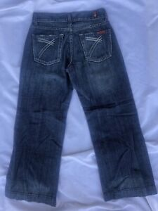 NEW Women's 7 For All Mankind DOJO Cropped Ankle Flare jeans size 25 & 26