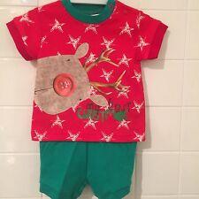 Baby 3-6m 00 Christmas Rudolph Pjs Pyjamas Xmas BNWT New Baby Shower Gift