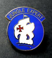US ARMY JUNGLE EXPERT LAPEL HAT PIN BADGE 1 INCH