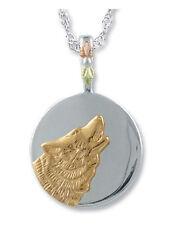 Landstrom's® Black Hills Gold on Sterling Silver Wolf Moon Pendant