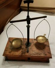 Antique Apothecary Pharmaceutical Balance Scale W Weight Set & 5 extra weights