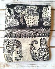 PLUS Size Aztec Elephant Leggings Black White Tribal Print Curvy Butter Soft