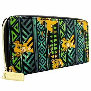 NEW OFFICIAL THE LION KING SIMBA EXPRESSIONS GREEN COIN & CARD CLUTCH PURSE