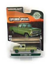 Greenlight Chase 1/64 1971 Ford F-100 Explorer Special Truck  Lime Gld #46