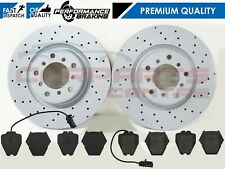 FOR AUDI S6 4.2 QUATTRO FRONT CROSS DRILLED BRAKE DISCS PADS 321MM COATED
