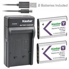 NP-BY1 EN-EL11 LI-60B Battery & Slim USB Charger for Pentax Optio L50 S1 V20 W6