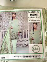Pakistani/Indian Casual UN-Stitched Shalwar Kameez Embroided CHIKANKARI 3 pcs Su