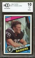 1984 Topps #111 Howie Long Rookie Card BGS BCCG 10 Mint+