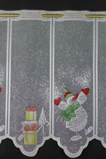 m/€ 12,90 Scheibengardine Gardine Bistrogardine 51 cm hoch Schneemann Winter