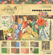 Graphic45 LITTLE WOMEN COLLECTION PACK scrapbooking (16) PAPERS + STICKER SHEET